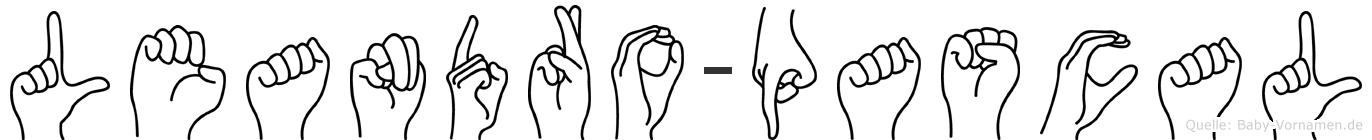 Leandro-Pascal im Fingeralphabet der Deutschen Gebärdensprache