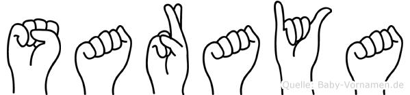 Saraya in Fingersprache für Gehörlose