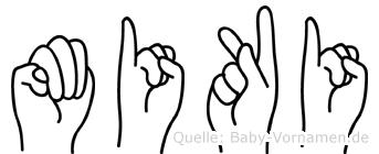 Miki im Fingeralphabet der Deutschen Gebärdensprache