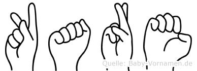 Kare im Fingeralphabet der Deutschen Gebärdensprache