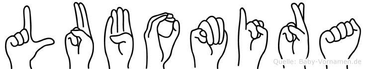 Lubomira in Fingersprache für Gehörlose