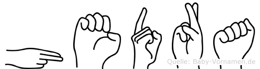 Hedra im Fingeralphabet der Deutschen Gebärdensprache