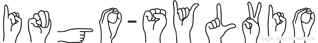 Ingo-Sylvio im Fingeralphabet der Deutschen Gebärdensprache