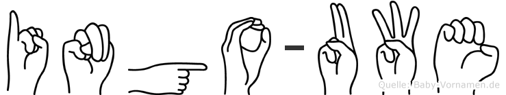 Ingo-Uwe im Fingeralphabet der Deutschen Gebärdensprache