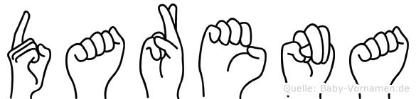 Darena in Fingersprache für Gehörlose