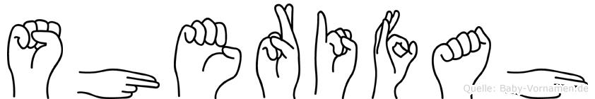 Sherifah im Fingeralphabet der Deutschen Gebärdensprache