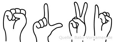 Sölvi im Fingeralphabet der Deutschen Gebärdensprache