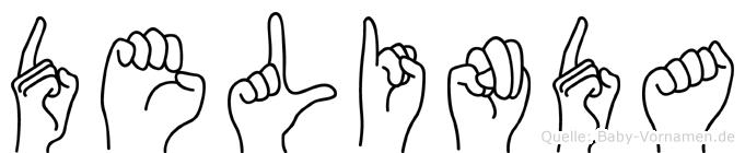 Delinda in Fingersprache für Gehörlose