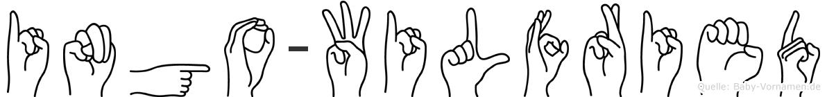 Ingo-Wilfried im Fingeralphabet der Deutschen Gebärdensprache
