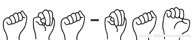 Ana-Mae im Fingeralphabet der Deutschen Gebärdensprache