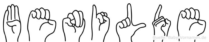 Benilde im Fingeralphabet der Deutschen Gebärdensprache