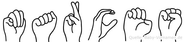 Marces in Fingersprache für Gehörlose