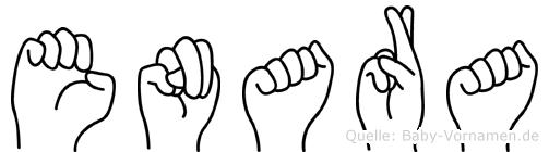 Enara im Fingeralphabet der Deutschen Gebärdensprache