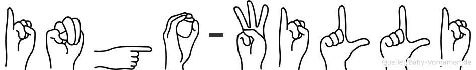 Ingo-Willi im Fingeralphabet der Deutschen Gebärdensprache
