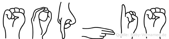 Sophis im Fingeralphabet der Deutschen Gebärdensprache