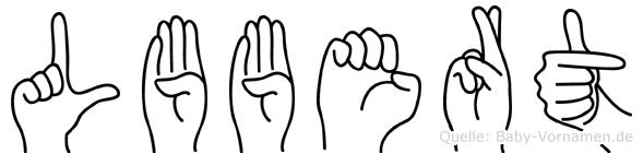 Lübbert im Fingeralphabet der Deutschen Gebärdensprache