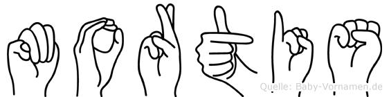 Mortis in Fingersprache für Gehörlose