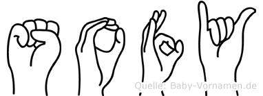 Sofy im Fingeralphabet der Deutschen Gebärdensprache