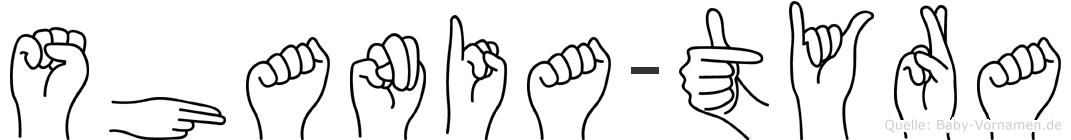 Shania-Tyra im Fingeralphabet der Deutschen Gebärdensprache