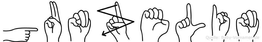 Gunzelin in Fingersprache für Gehörlose