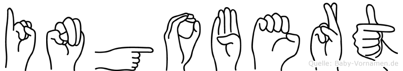 Ingobert im Fingeralphabet der Deutschen Gebärdensprache