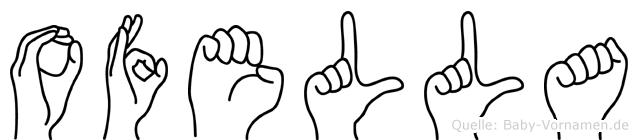 Ofella im Fingeralphabet der Deutschen Gebärdensprache