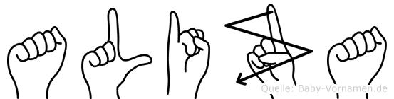 Aliza in Fingersprache für Gehörlose