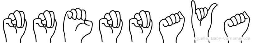 Nnennaya im Fingeralphabet der Deutschen Gebärdensprache