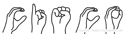 Cisco im Fingeralphabet der Deutschen Gebärdensprache