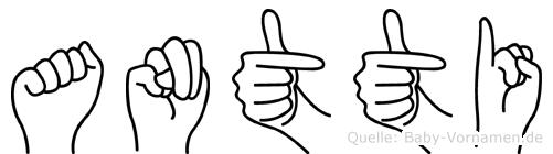 Antti in Fingersprache für Gehörlose