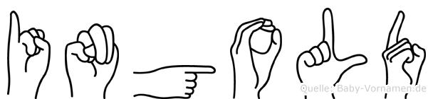 Ingold im Fingeralphabet der Deutschen Gebärdensprache