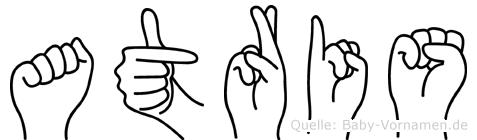 Atris im Fingeralphabet der Deutschen Gebärdensprache