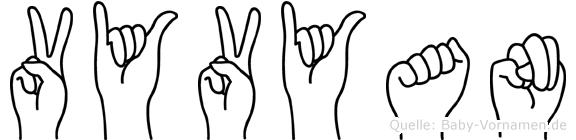 Vyvyan in Fingersprache für Gehörlose