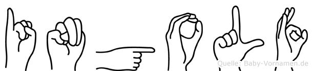 Ingolf im Fingeralphabet der Deutschen Gebärdensprache
