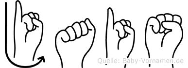 Jais im Fingeralphabet der Deutschen Gebärdensprache