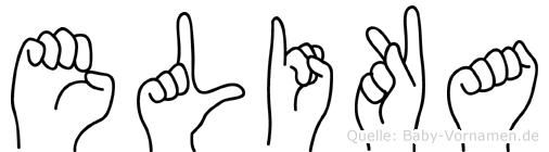 Elika in Fingersprache für Gehörlose