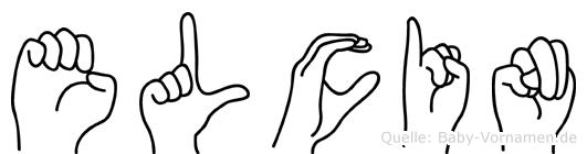 Elcin im Fingeralphabet der Deutschen Gebärdensprache