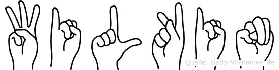 Wilkin im Fingeralphabet der Deutschen Gebärdensprache