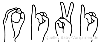 Oivi im Fingeralphabet der Deutschen Gebärdensprache