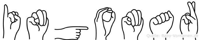 Ingomar im Fingeralphabet der Deutschen Gebärdensprache