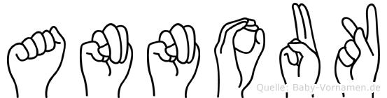 Annouk im Fingeralphabet der Deutschen Gebärdensprache