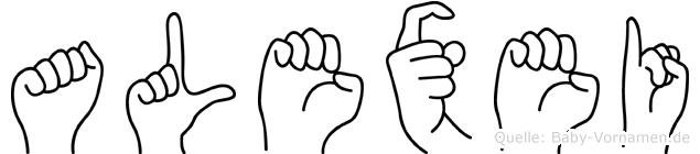Alexei im Fingeralphabet der Deutschen Gebärdensprache