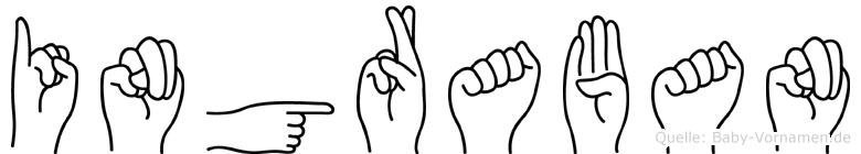 Ingraban im Fingeralphabet der Deutschen Gebärdensprache