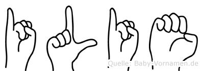 Ilie im Fingeralphabet der Deutschen Gebärdensprache
