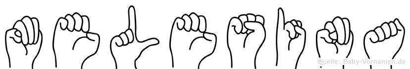 Melesina in Fingersprache für Gehörlose