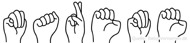 Mareme in Fingersprache für Gehörlose