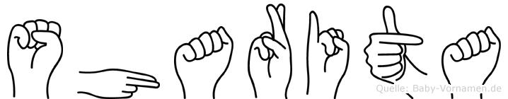 Sharita in Fingersprache für Gehörlose