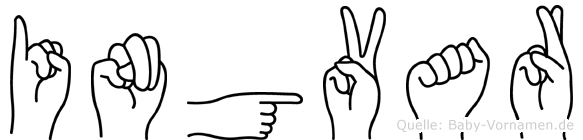 Ingvar im Fingeralphabet der Deutschen Gebärdensprache