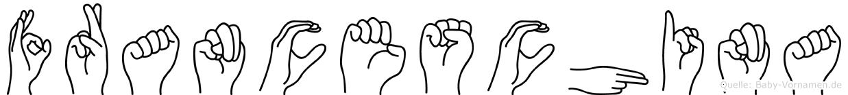 Franceschina im Fingeralphabet der Deutschen Gebärdensprache