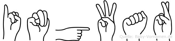 Ingwar im Fingeralphabet der Deutschen Gebärdensprache